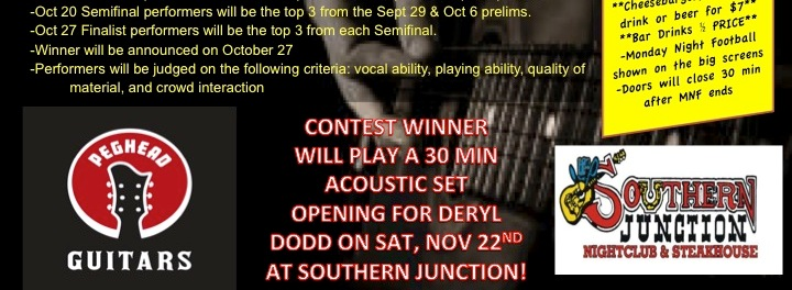 Singer/Songwriter Competition underway at Southern Junction