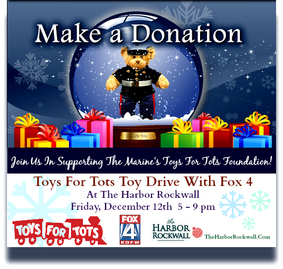 Toys For Tots Foundation Address : Toys for tots toy drive with fox at rockwall harbor