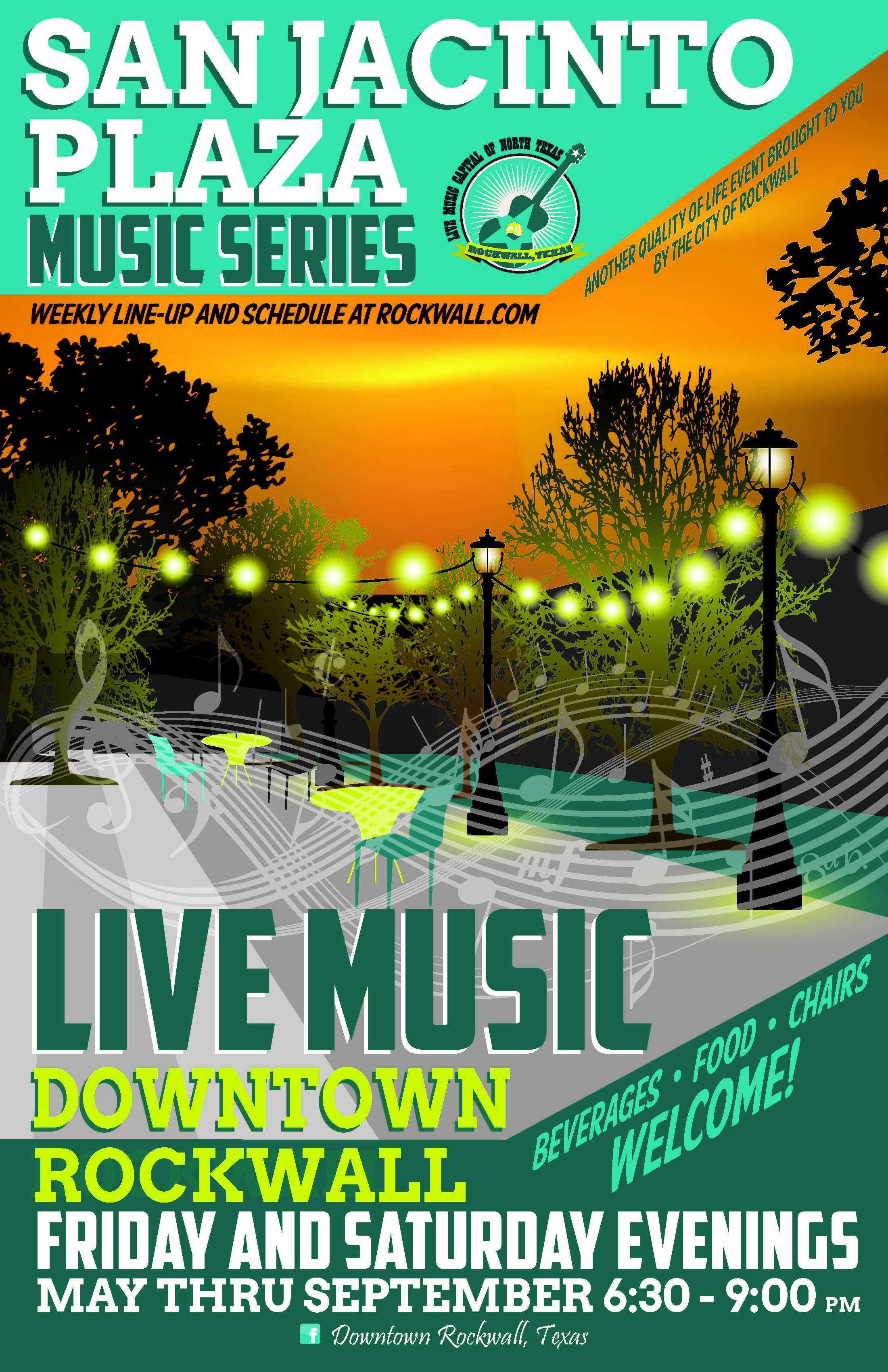 Introducing free outdoor summer music series at Rockwall's San Jacinto Plaza