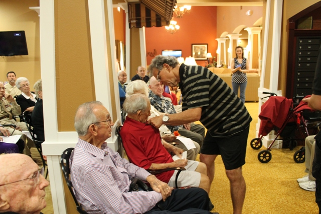 assisted living and memory care chose to honor their veteran residents
