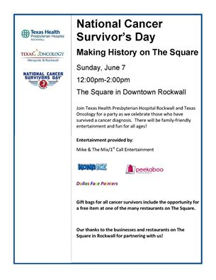 cancer survivors day poster