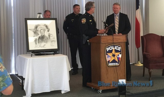 Rockwall Police Chief Moeller honored with awards at Retirement Celebration