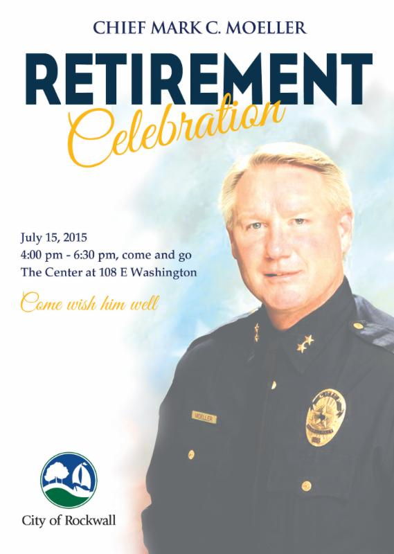 community welcome at rockwall police chief s retirement party blue