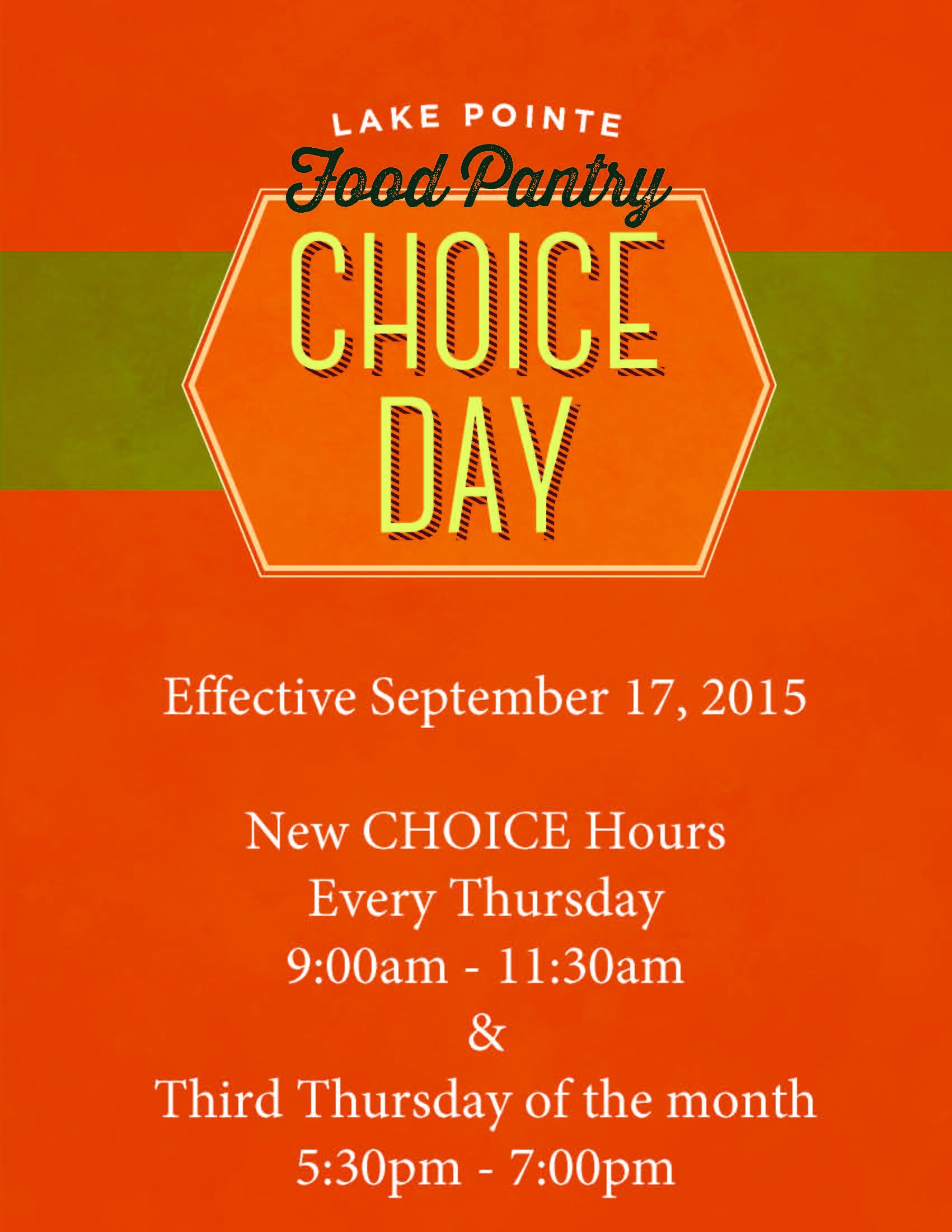 Lake Pointe Church adds new 'Choice Day' hours for residents needing food assistance