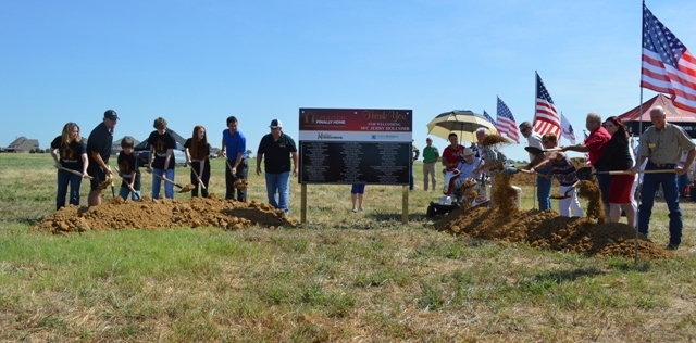 Community shows support at groundbreaking of veteran's new mortgage-free home in Rockwall