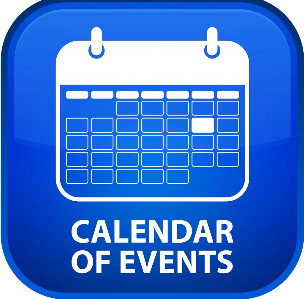 Calendar Icon Blue : Blue ribbon news events calendar