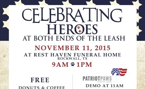 Veteran's Day event will celebrate heroes at both ends of the leash