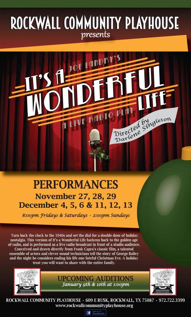 Rockwall Community Playhouse Presents It 39 S A Wonderful Life Blue Ribbon News