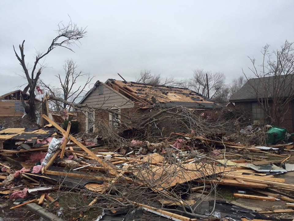 Helping Hands providing tornado relief assistance