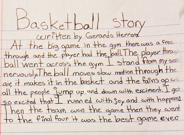 stories written by students