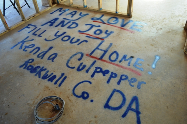 Home Signing In Rockwall For Wounded Veteran Blue Ribbon