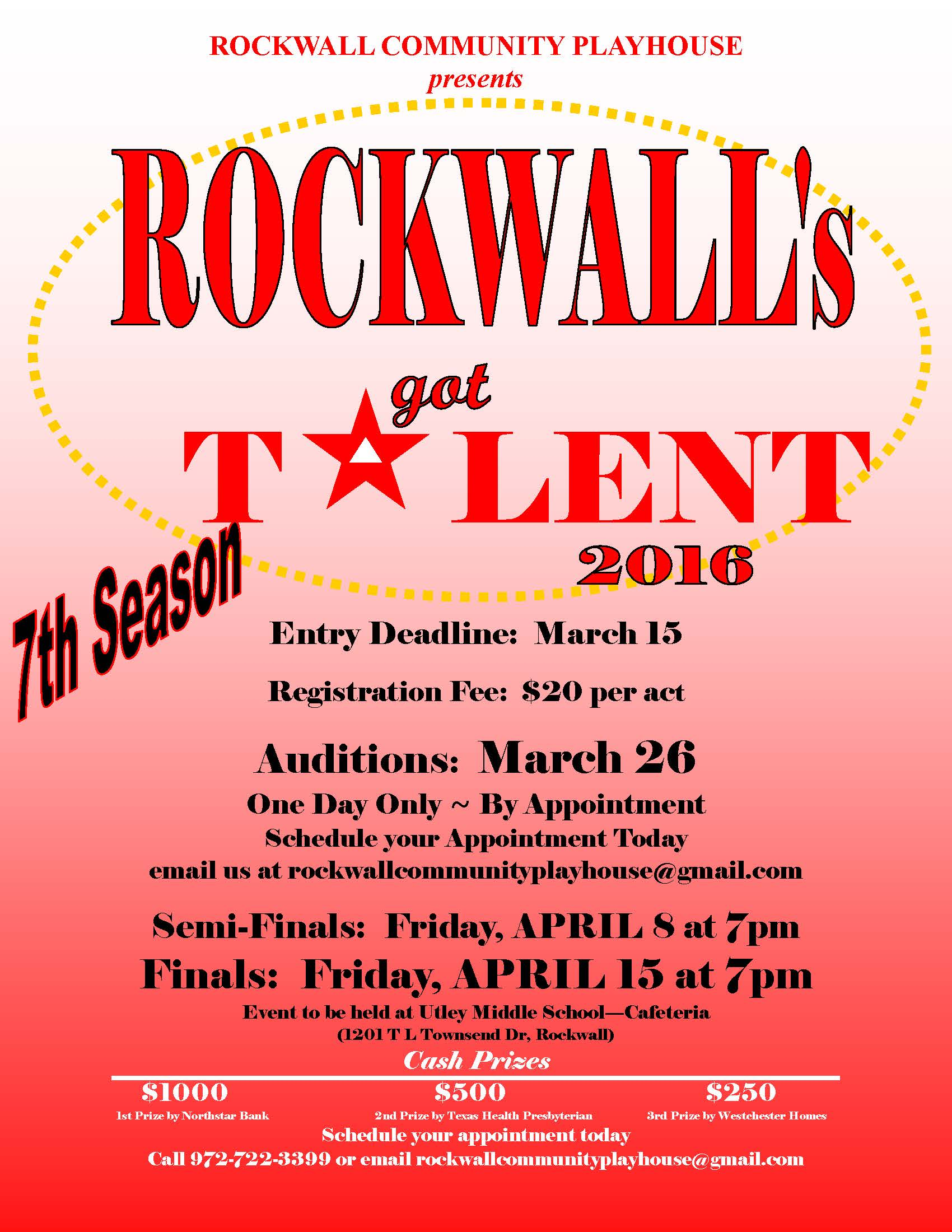 RCP presents Rockwall's Got Talent 2016