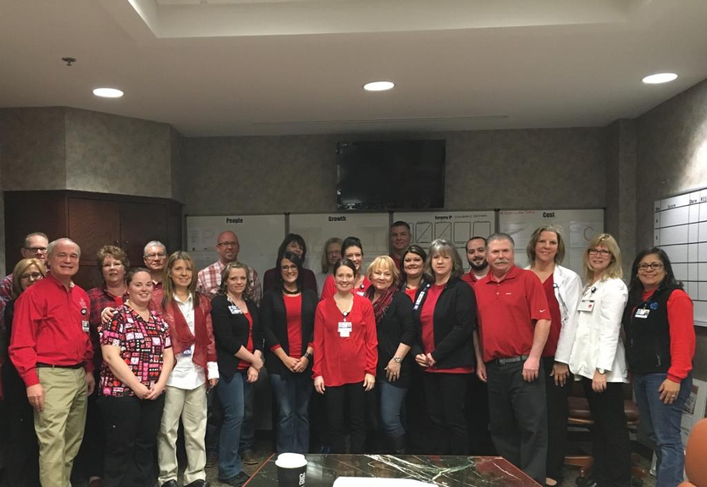 Lake Pointe Medical Center raises awareness of heart disease by participating in #WearRedDay