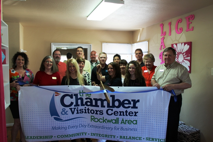Rockwall Chamber welcomes Lice Ladies with ribbon cutting