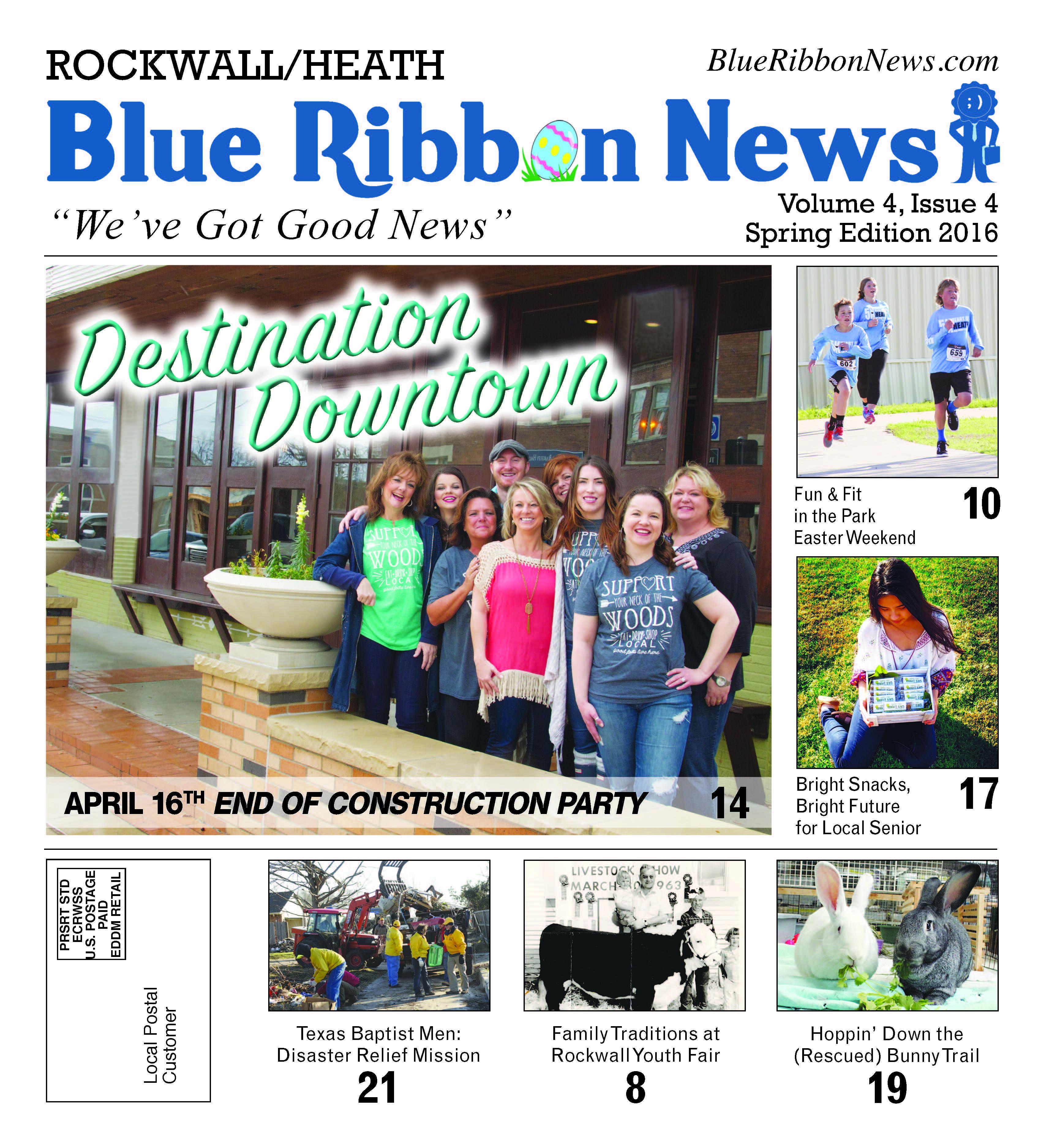 Blue Ribbon News Spring print edition hits mailboxes