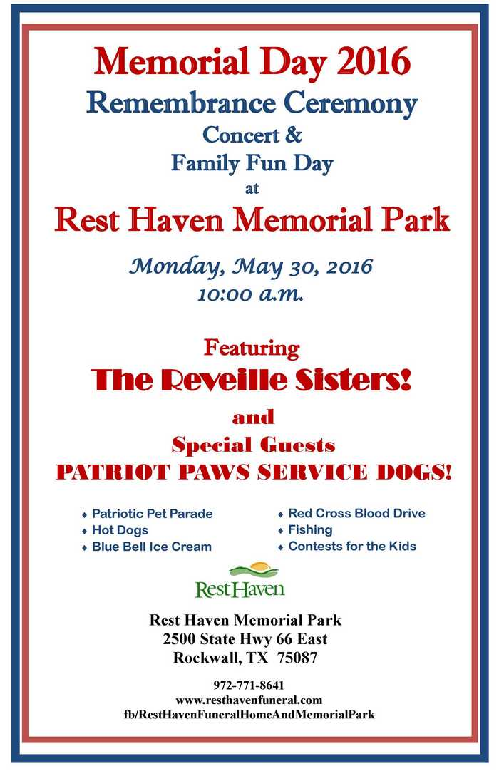 Rest Haven Memorial Day event to feature patriotic pet parade