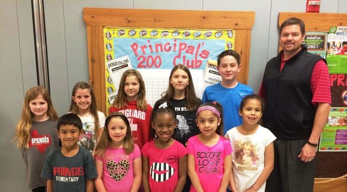 Springer Elementary names Principal's 200 Club winners