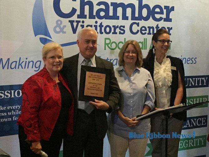 Rockwall ISD Superintendent Bailey honored at Chamber Partnership Breakfast