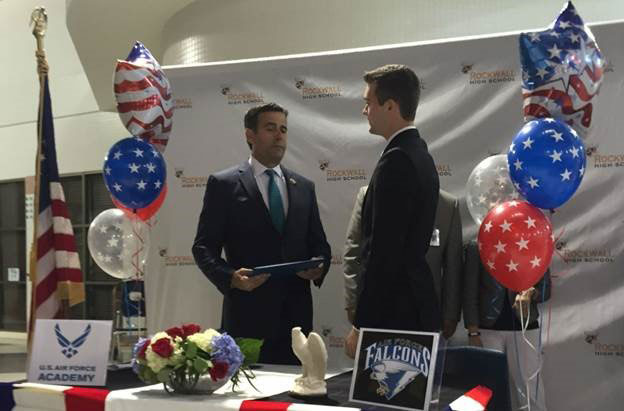 Rep. Ratcliffe honors Rockwall High School student Chris Daniels for U.S. Air Force Academy appointment