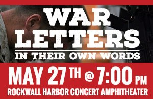 Rockwall to host Memorial Concert May 27 featuring War Letters