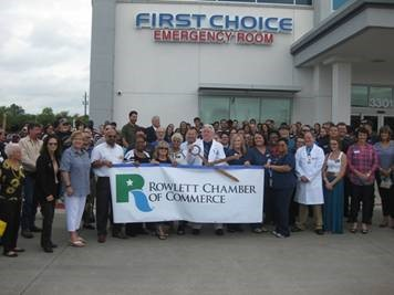 Rowlett Chamber holds ribbon cutting for First Choice Emergency Room ...