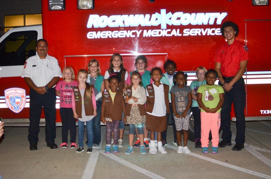 Rockwall County EMS helps Girl Scouts troop earn First Aid Badge