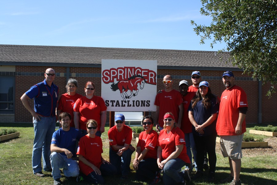 """Springer Elementary receives makeover with """"Lowe's Hero"""" project"""