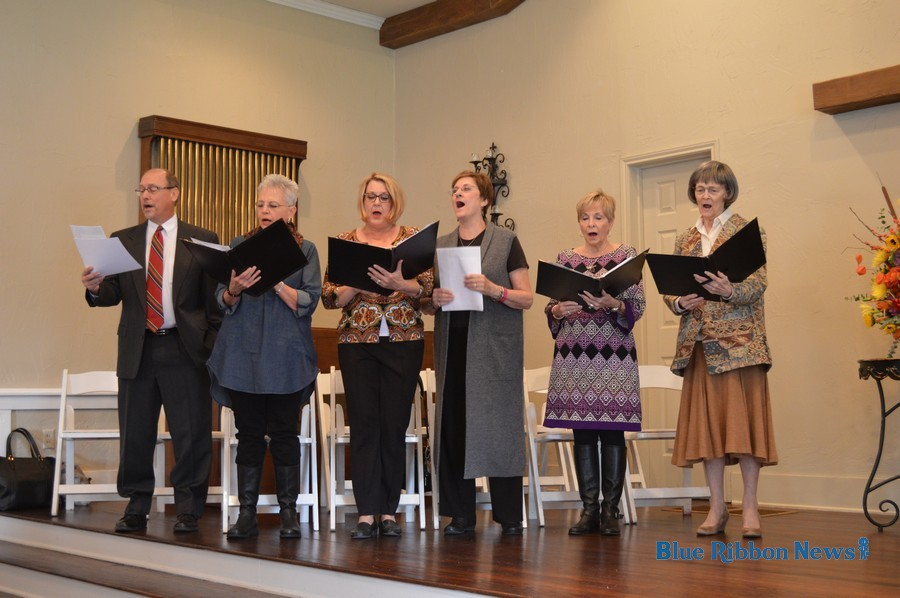 the first christian church of rockwall choir performs during the rockwall wedding chapel 100th anniversary ceremony