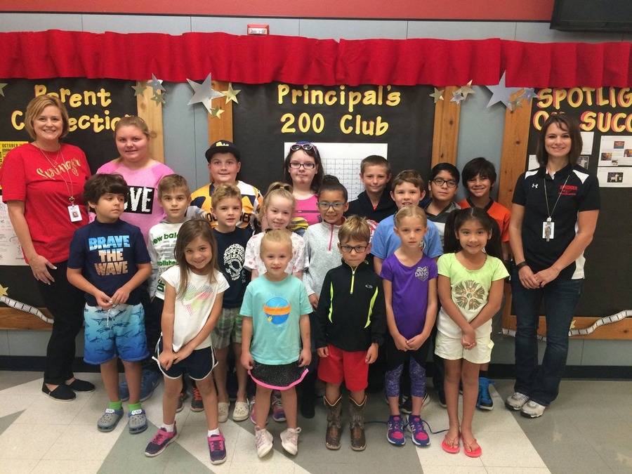 Springer Elementary announces Principal's 200 Club winners for October