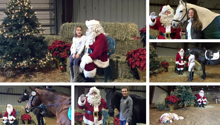 Photos with Santa at Black Star Sport Horses Dec. 17