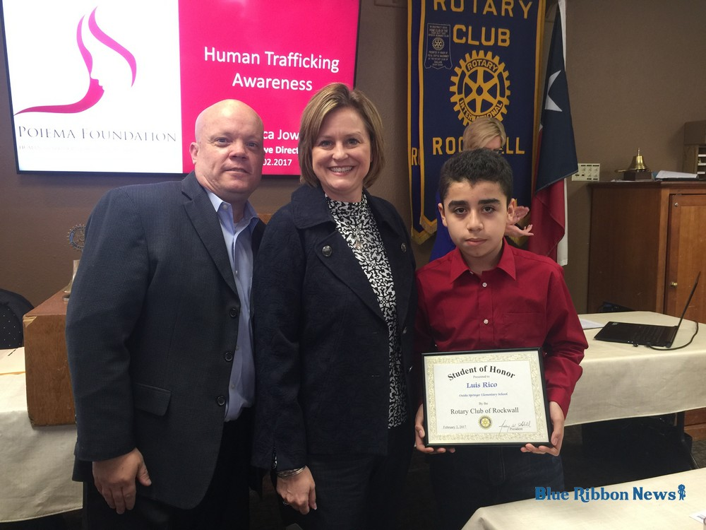 Rockwall Rotary recognizes Student of Honor from Springer Elementary