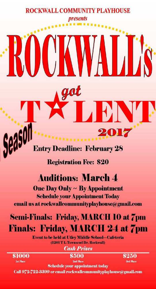 Audition, performance dates set for Rockwall's Got Talent 2017