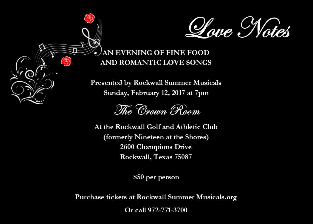 "Rockwall Summer Musicals presents ""Love Notes"""