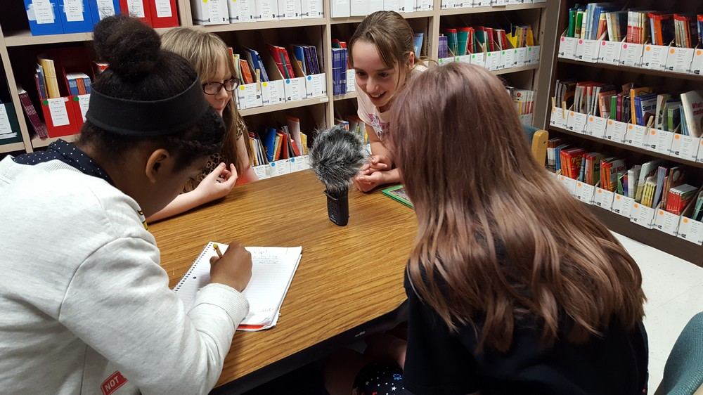 Jones Elementary students publish first podcast
