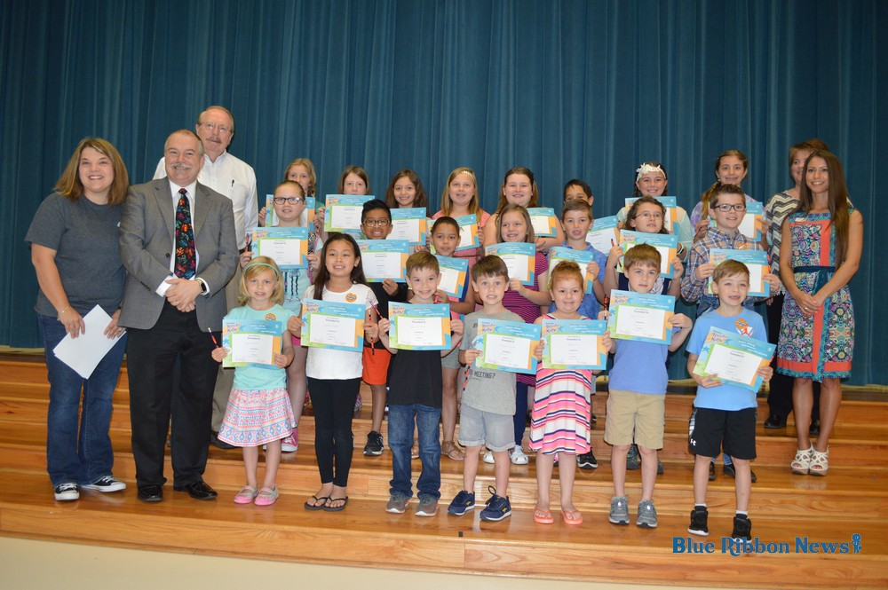 Stevenson Elementary students receive awards from Rockwall Kiwanis