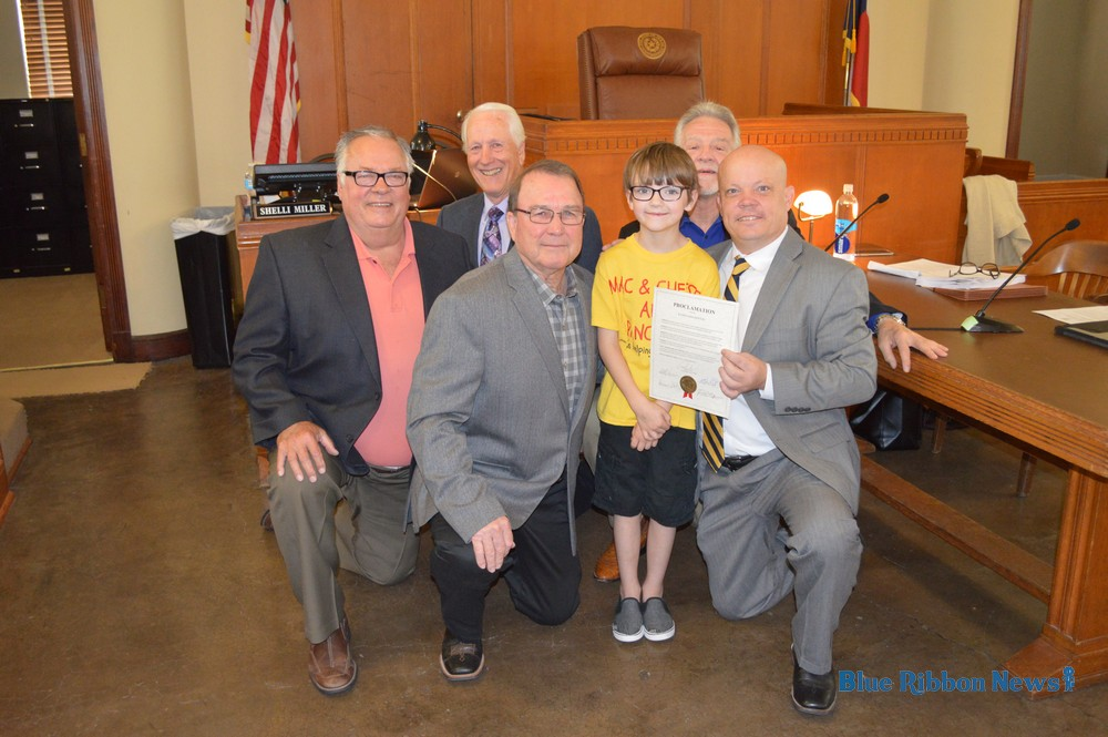 Commissioners Court recognizes Kaden Newton of Mac & Cheese and Pancakes