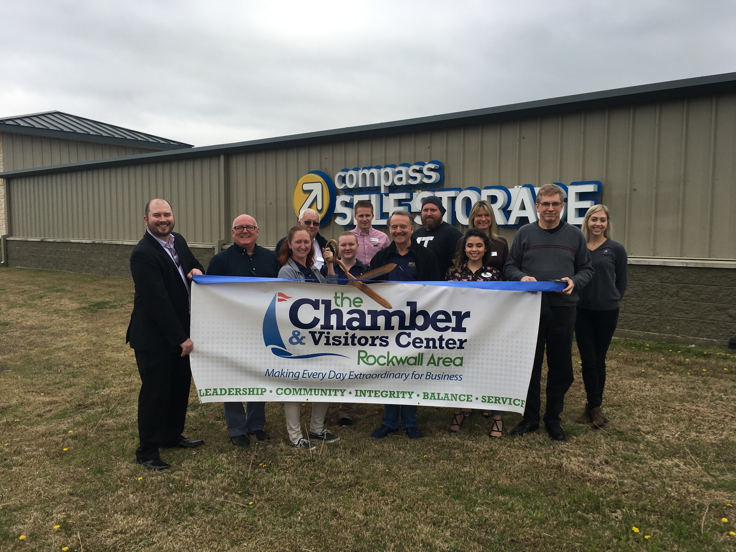 Ribbon cutting celebrates Compass Self Storage property expansion