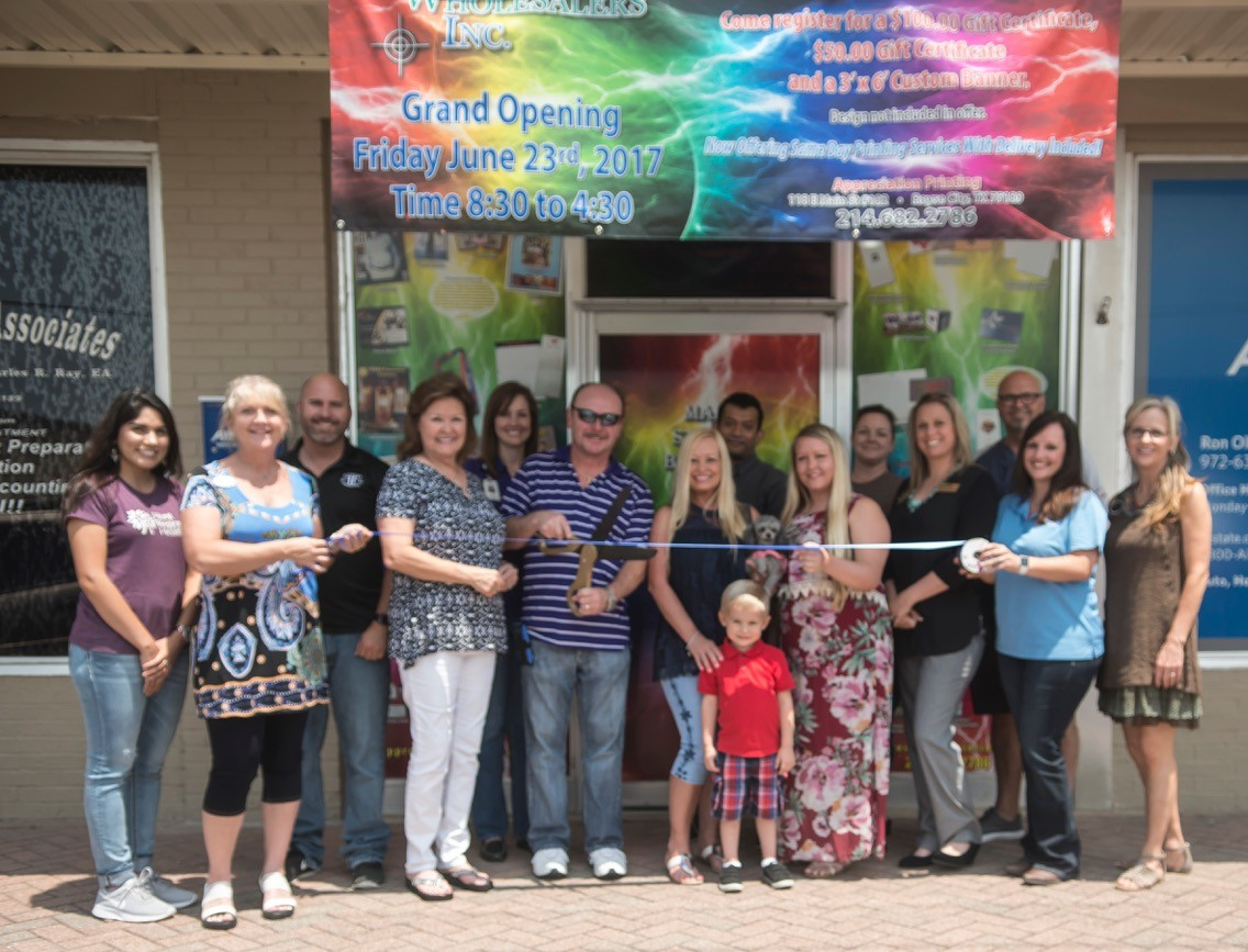 Ribbon cutting welcomes Appreciation Wholesalers Inc. to Royse City