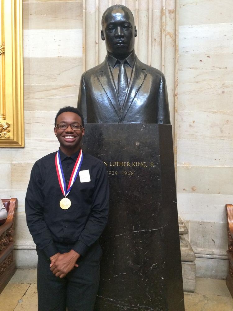 Rockwall-Heath HS student presented with Presidential Scholar medallion