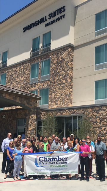 Rockwall Chamber holds ribbon cutting for SpringHill Suites by Marriott