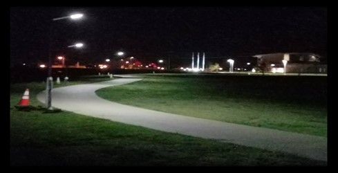 LED Solar lights installed along Robert Smith Family Park trail