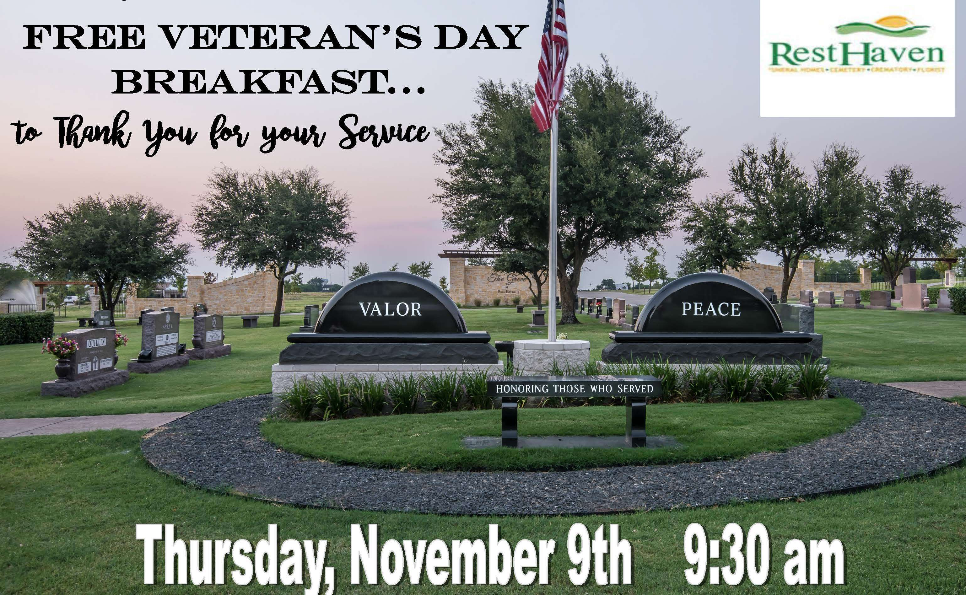 Breakfast and Benefits to Honor the Brave