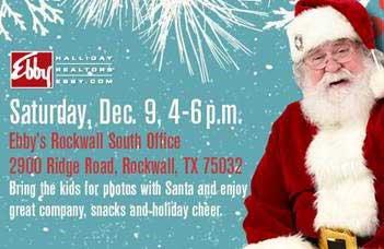 Photos with Santa at Ebby Halliday Dec. 9