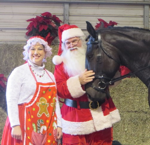 Santa Claus returns to Black Star Sport Horses Dec. 16
