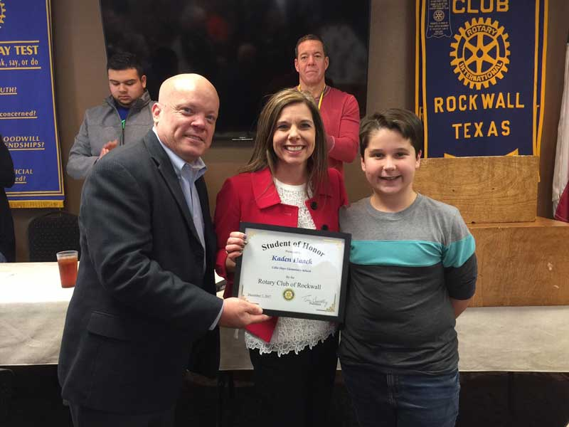 Celia Hays Elementary 6th grader named Rotary Student of Honor