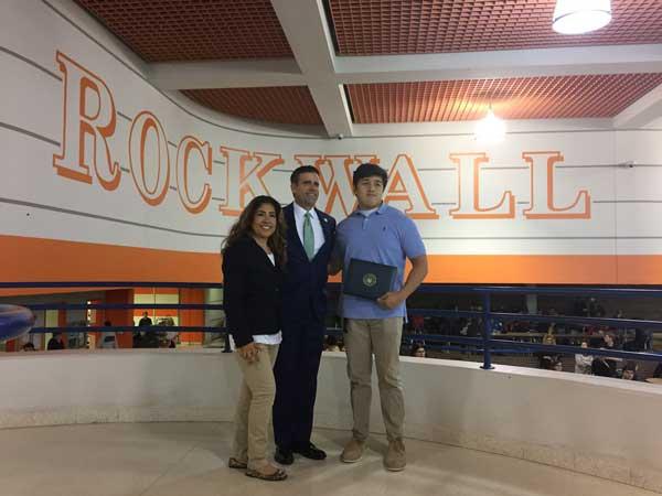 Rep. Ratcliffe honors Rockwall High School U.S. Naval Academy appointee