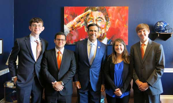 Rockwall High School robotics team student officers attend National Advocacy Conference