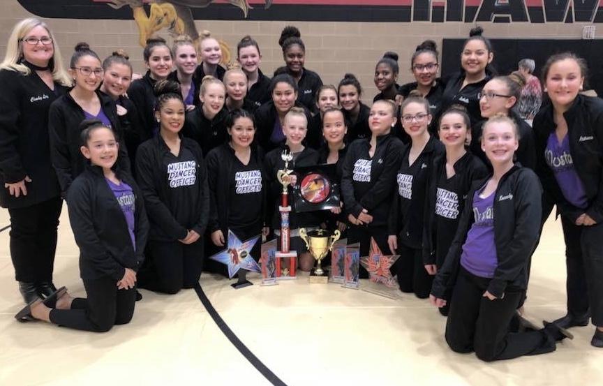 Cain Mustang Dancers win big at ADTS North Texas Regionals