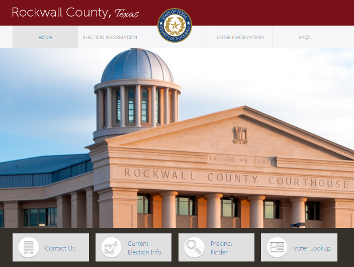 Rockwall County Elections Department receives Outstanding County Election Website award