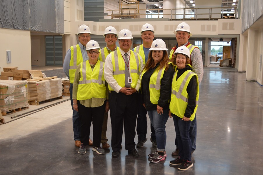 Rockwall ISD Board tours the Dr. Gene Burton College and Career Academy